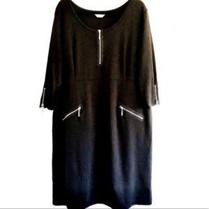 Avenue Black Zipper Dress Size 22/24.